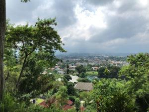 お墓のある山からの風景